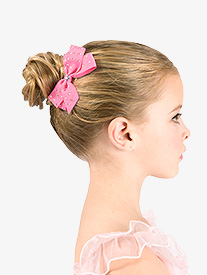 Rhinestone Embellished Hair Bow