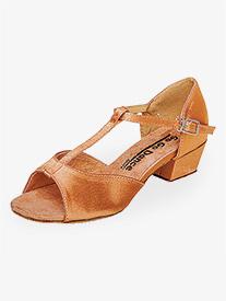 Girls 1.5 Heel T-Strap Ballroom Dance Shoes