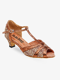 Ladies Latin/Rhythm Ballroom Dance Shoes w/1.3 Inch Heels
