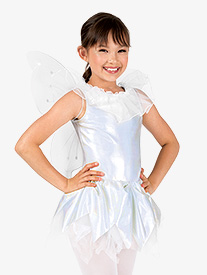 Girls Metallic Angel Tank Character Dress Set