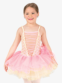 Girls Performance Corset Camisole Tutu Dress