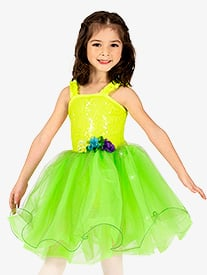 Girls Performance Neon Tank Romantic Tutu Dress