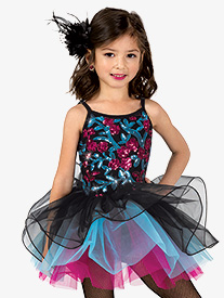 Girls Performance Three-Tone Camisole Tutu Dress