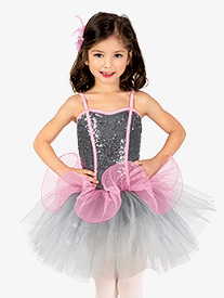 Girls Performance Two-Tone Corset Camisole Tutu Dress