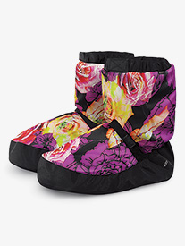 Adult Floral Print Warm-up Boots
