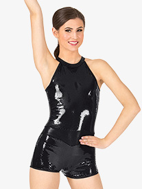 Adult Sequin Tank Shorty Unitard