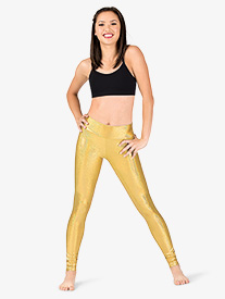Womens Iridescent Performance High Waist Leggings