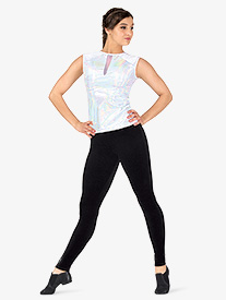 Womens Velvet Full-Length Dance Leggings