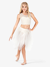 Girls Gathered Tulle Tutu Skirt