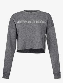 Womens Cropped Fleece Dance Sweater
