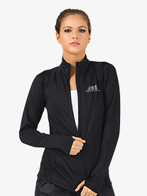 Womens Zip-Up Long Sleeve Dance Jacket