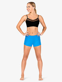 Womens Gathered Athletic Shorts