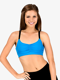 Womens Gathered Sports Bra