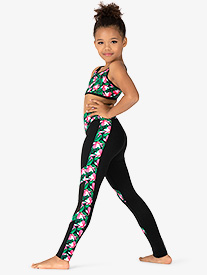 Girls Magnolia Memories Mesh Insert Dance Leggings