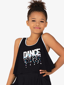 Girls Dance Contrast Trim Tank Dance Top