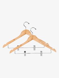 2-Pack Wooden Hangers