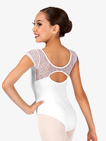 Child Lace Short Sleeve Leotard