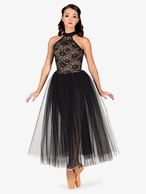 Womens Ballet Halter Romantic Tutu Dress