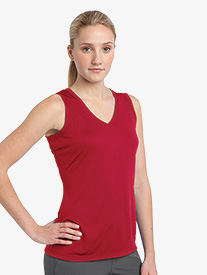 Ladies Sleeveless V-Neck T-Shirt