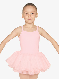 Girls Diamante Mesh Camisole Ballet Tutu Dress