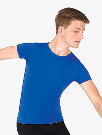 Mens Versatile Short Sleeve Snug Fit Pullover