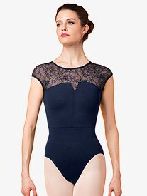 Womens Juliet Lace Short Sleeve Leotard