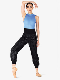 Womens Roll-Over Ripstop Dance Pants