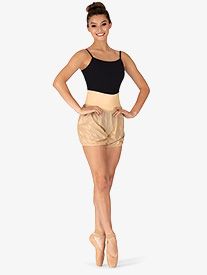 Womens Roll-Over Ripstop Dance Shorts