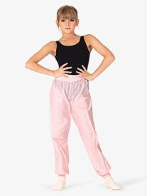 Girls Roll-Over Ripstop Dance Pants