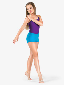Girls Banded Leg Boy Cut Dance Short