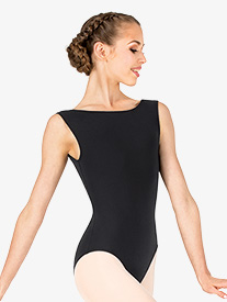 Womens Boat Neck Low Back Leotard