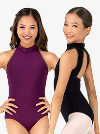 Girls Karolina Mock Neck Tank Dance Leotard