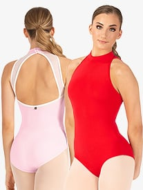 Sabina High Neck Mesh Back Leotard