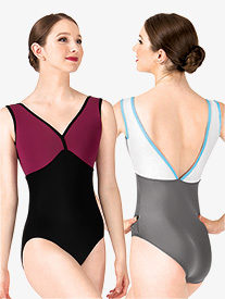 Nora Two-Tone Tank Leotard