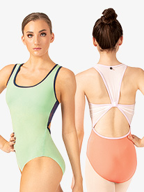 Womens Stella Mesh Back Tank Leotard