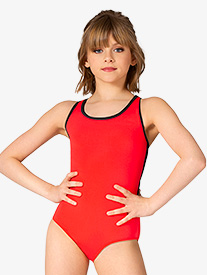 Girls Stella Mesh Back Tank Leotard