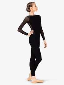 Womens Gabriela Mesh V-Back Dance Unitard
