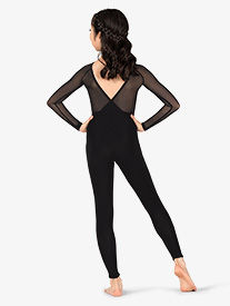 Girls Gabriela Mesh V-Back Dance Unitard