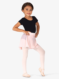Girls Velvet Waistband Wrap Pull-On Ballet Skirt