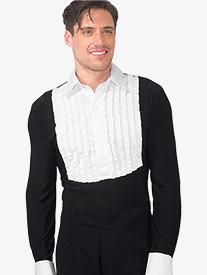 Mens Ruffled Tuxedo Style Ballroom Leotard