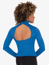 Womens Mock Neck Long Sleeve Dance Top