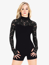 Adult Long Sleeve Shorty Velvet Unitard