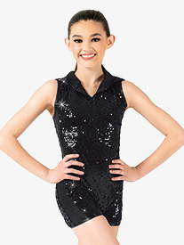 Girls Sequin Shorty Unitard