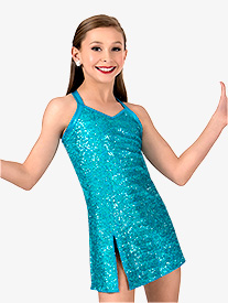 Girls Sequin Tank Performance Dress Set