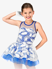 Girls 3-D Feather Tank Costume Tutu Dress