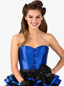 Womens Satin Hook Front Dance Corset