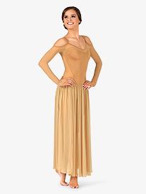 Womens Performance Open Shoulder Long Sleeve Dress