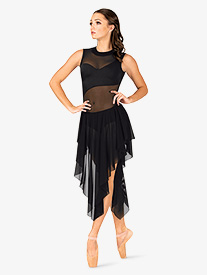 Womens Performance Asymmetrical Mesh Tank Dress