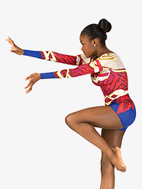Womens Warrior Princess Sublimated Print Performance Shorty Unitard