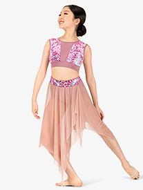 Girls Performance Aria Asymmetrical Skirt
